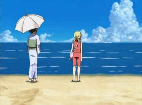"""Serves them right for swimming without considering that Yamato can't swim without bigger protection than a parasol!"""